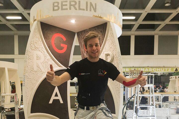 Stuckateur Ralph Lanz (22) aus Rutesheim in Baden-Württemberg fährt zur EuroSkills nach Österreich.