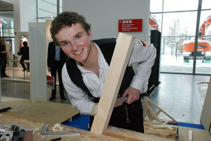 Zimmerer Simon Rehm will die Goldmedaille