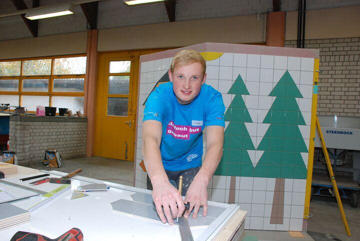 Tim Welberg startet für Fliesenleger