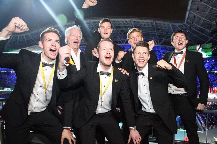 Nationalteam Deutsches Baugewerbe holt zweimal Gold, einmal Bronze und zwei Medallions for Excellence bei den WorldSkills 2019 in Kazan.