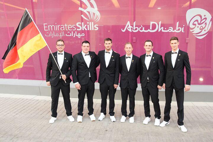 Einmal Silber und drei Medallions for Excellence für das Nationalteam Deutsches Baugewerbe.