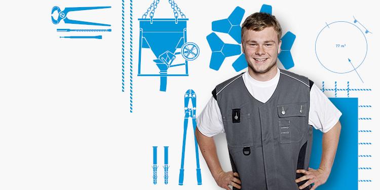 Bauberuf - Beton- und Stahlbetonbauer/-in